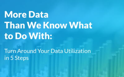 More Data Than We Know What to Do With: Turn Around Your Data Utilization in 5 Steps